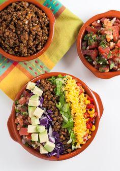 Spiced lentil taco salad   Natural Comfort Kitchen