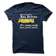 To The Bus Driver T-Shirts, Hoodies. ADD TO CART ==► https://www.sunfrog.com/LifeStyle/Limited-Edition-To-The-Bus-Driver-NavyBlue.html?41382