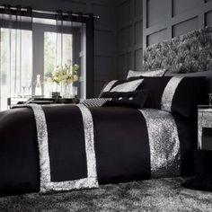 Lemonade Glamorous Black Duvet and Pillow Cases Set - from Lemonade UK King Size Comforter Sets, King Size Comforters, Duvet Sets, Duvet Cover Sets, Bed Sets, Luxury Duvet Covers, Bed Duvet Covers, Luxury Bedding, Gold Bedding
