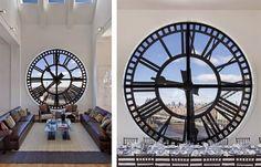 El impresionante loft triplex de la torre del reloj.