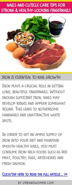 Nails and cuticle care tips for strong & healthy-looking fingernails - Iron is essential to nail growth