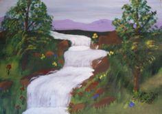 Waterfall, 11X14, acrylic  on canvas