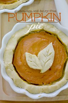 Gluten-free and Vegan Pumpkin Pie