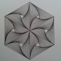 Flower of life , Power my Mass Make us lit. Make us see the dope chains of two chainz in a maze Illusion Kunst, Illusion Art, Geometric Designs, Geometric Shapes, Geometric Quilt, Op Art, Zentangle Patterns, Zentangles, Arte Linear