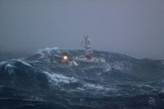Rough seas in the Southern Ocean for the crew of this Kiwi fishing boat…
