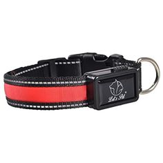 9f85dc7490 NewEastRock- USB Rechargeable LED Dog Collar with Reflective Stitching -  Improved Dog Visibility and Safety - No Batteries Required    Click image  for more ...