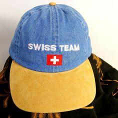 72bc4c3a585 Geneve Cofter Mens Hat Swiss Team Baseball Cap Adjustable Dad Hat