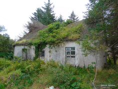 derelict house. long forgotten. county donegal
