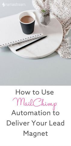 How to Use Mailchimp to Deliver Your Lead Magnet — Namastream Business Articles, Business Tips, Lead Magnet, Inbound Marketing, Email Marketing, Blogging For Beginners, Make Money Blogging, Being Used, Making Ideas