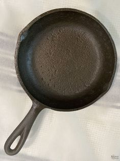How to Restore a Cast Iron Pan   How to Season a Cast Iron Pan   How to remove rust from cast iron   The easy way to restore a pan   How to clean rusty cast iron   Easy rust remover   The right way to season a pan   Simple trick for removing rust from a cast iron pan   DIY Cast Iron Pan restoration   #TheNavagePatch #CastIron #RustRemoval #HowTo #Tutorial   TheNavagePatch.com Removing Rust, How To Remove Rust, Cleaning Rusty Cast Iron, Searing Meat, Seasoning Cast Iron, Cooking Tomatoes, Shoe Company, Iron Pan, Restore