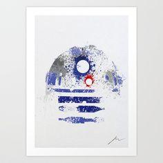 Star Wars paint splatter: R2D2 Art Print by Arian Noveir - $18.00