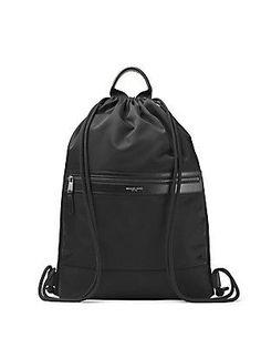 Michael Kors Kent Drawstring Backpack - Black