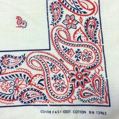 Vintage Bandana, Red Bandana, Bandana Print, Patriotic Crafts, Patriotic Party, July Crafts, Bandana Design, Hot Dog Bar, Bandana Styles