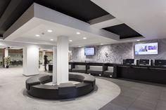 Modern university design in London. Featuring floor tiles from Solus Ceramics.