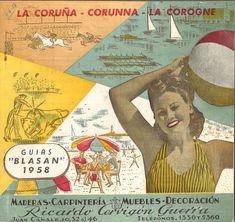 """- [A Coruña : Concello da Coruña, (Coruña : Artes Gráf. 20 x 22 cm. Guías de turismo """" Blasan"""" A Coruña (Provincia) - Guías turísticas. Baseball Cards, Movie Posters, City, Tourism, Celebration, Antique Photos, Exhibitions, Poster, Historia"""