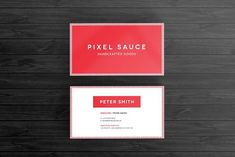 Simple Business Card Template by Pixel Sauce on @creativemarket