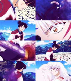 Kagura dying and Sesshomaru realizing he can't help her - screenshots from InuYasha: The Final Act Miroku, Kagome Higurashi, Touken Ranbu, Manga Dbz, Inuyasha And Sesshomaru, Inu Yasha, Pokemon, Gifs, Avatar The Last Airbender