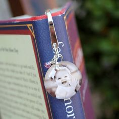 Cute for Grandparents Day Sept 8 -Custom Photo SILVER PLATED BOOKMARKS by CustomPhotoKeepsakes