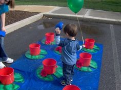 Cute idea for a ball toss game