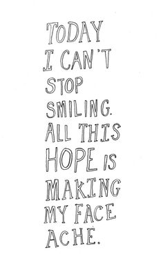 All this hope is making my face ache. :)