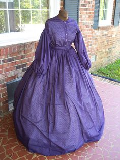 100% cotton Sheer Civil War Dress