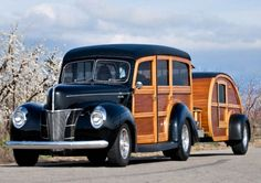 1940 Ford Woody with Trailer.  My Dream Car...