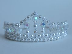 Pretty Pearl and Crystal Flower Girl Tiara