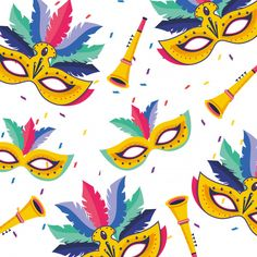 Brazil carnival pattern Royalty Free Vector Image ,You can find Brazil carnival and more on our website.
