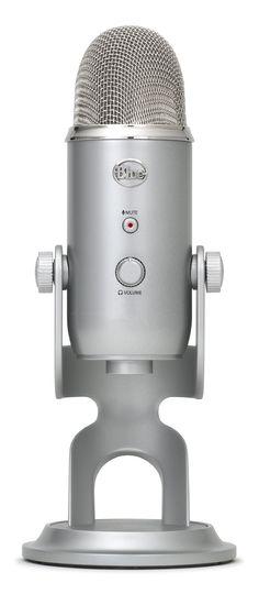 Blue Microphones Yeti USB Microphone - Platinum Edition with Blue Mics Pop Filter and Sennheiser HD 202 II Professional Headphones Usb Hub, Hacks, Blue Yeti Usb Microphone, Singing Microphone, Usb Packaging, Adaptador Usb, Blue Microphones, Plugs, Usb Stick