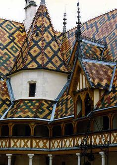 The rooftops of Burgundy, France