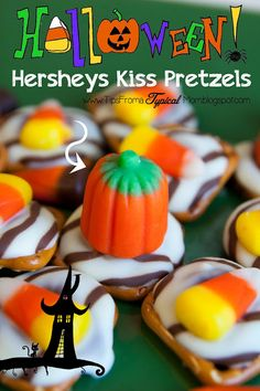 Tips from a Typical Mom: {Halloween} Hershey's Kiss Pretzel Recipe