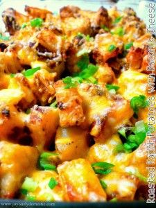 Recipe For  Roasted Ranch Potatoes with Bacon and Cheese