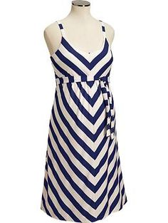 maternity tank dress - not sure if stripes are good idea for my pregnant body but this is cute