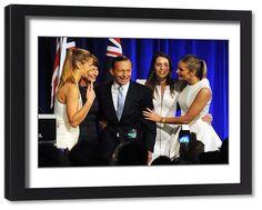 Framed Print-Tony Abbott Election Win-Framed Print made in the USA Australian News, Liberal Party, Tony Abbott, Poster Prints, Framed Prints, Prime Minister, Politicians, Modern Frames, Victorious