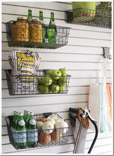 Organize with hanging baskets