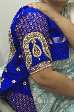Wedding Saree Blouse Designs, Sari Blouse Designs, Fancy Blouse Designs, Blouse Neck Designs, Sleeve Designs, Hand Work Blouse Design, Maggam Work Designs, Embroidered Blouse, Zard