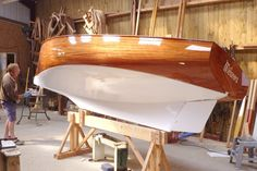 Last touch of paint before launching this Cormoran from Jezequel, Carantec. Brittany