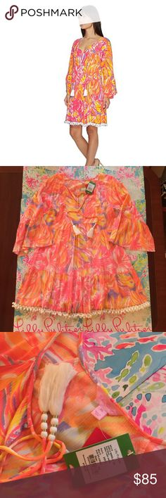 dfd0c3680b609e Lilly Pulitzer Amisa Tunic Dress Sun Splashed XS Brand new with tags long  sleeve Amisa tunic