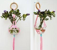 MENTŐÖTLET - kreáció, újrahasznosítás: Csomózott virágtartó