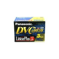 "PANASONIC av care diginal mini video cassette 60 minutes 3 pack by Panasonic. $6.98. Description:PANASONIC av care diginal mini video cassette 60 minutes 3 packFeatures: Reduced tape friction  Continuous Varying Incidence (CVI)  Diamond-like (DL), carbon-coated thin filmTechnical Information:Product Name Panasonic 60 Min Digital Mini Video Cass 3 Pack Product Type Digital Videocassette Storage Capacity 1 Hour MiniDV - SP1.50 Hour MiniDV - LP Packaged Quantity 3 Tape Width 0.25"" P..."