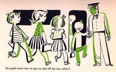 From a safety pamphlet illustrated by Janet La Salle in 1954. (via the owls go on Flickr)