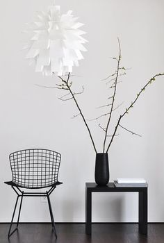 Via Normann Copenhagen | Norm 69 Lamp | Bertoia Chair | Black