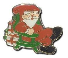 Christmas Santa Sitting StockPins. $0.90