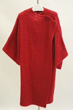 Coat Madame Grès (Alix Barton) (French, Paris 1903–1993 Var region) Date: late 1960s–mid-1980s Culture: French Medium: wool
