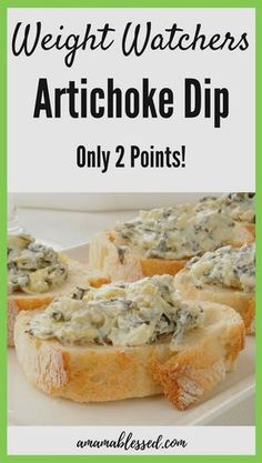 2 Point Artichoke Dip - A Mama Blessed WW Recipes This warm Weight Watchers Artichoke dip is a must have this holiday season! With Smartpoints, this dip is easy to make and is great for a Weight Watchers appetizer. Stay on track without sacrificing taste! Weight Watchers Snacks, Plats Weight Watchers, Weight Watchers Meal Plans, Weight Loss, Weight Watcher Desserts, Weigh Watchers, Weight Watchers Smart Points, Ww Recipes, Healthy Breakfast Meals