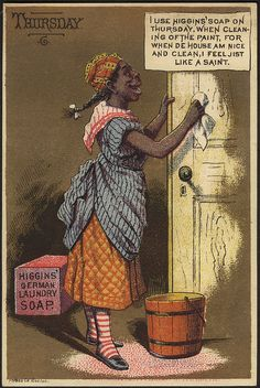Higgins Soap for Cleaning Doors Black Americana Victorian Trade Card