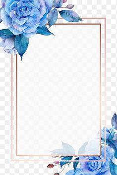 Flower Border Png, Flower Background Design, Flower Frame Png, Vintage Flowers, Blue Flowers, Blue Flower Png, Flower Background Wallpaper, Flower Backgrounds, Frame Border Design