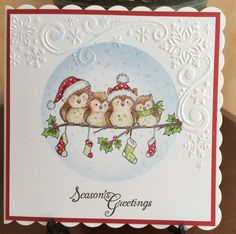 Christmas Owls - I could do something like this for Emily for Christmas w/the HFC owls.