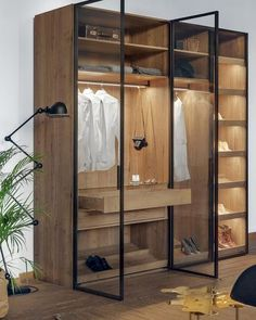 Urban Industrial Decor Tips From The Pros Have you been thinking about making changes to your home? Are you looking at hiring an interior designer to help you? Walk In Closet Design, Bedroom Closet Design, Bedroom Wardrobe, Wardrobe Closet, Wardrobe Design, Closet Designs, Master Bedroom, Shoe Closet, Glass Wardrobe Doors