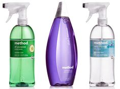 Love Method products. I can have my kids help with the house cleaning without worrying about them touching or breathing in harsh chemicals... and the products smell good.